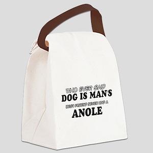 Anole pet designs Canvas Lunch Bag