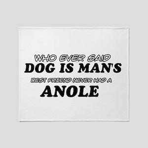 Anole pet designs Throw Blanket
