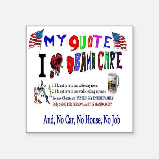 Obamacare Anti American Sticker