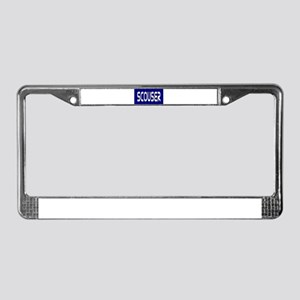 Scouser White on Blue License Plate Frame