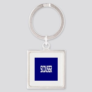 Scouser White on Blue Keychains