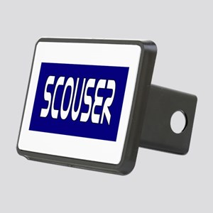 Scouser White on Blue Hitch Cover