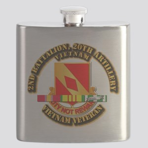 Army - 2-20th FA w VN SVC Flask