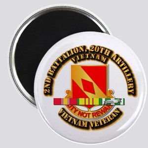 Army - 2-20th FA w VN SVC Magnet