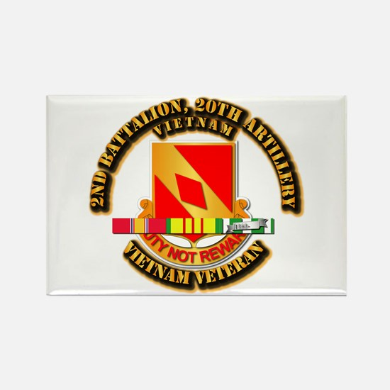 Army - 2-20th FA w VN SVC Rectangle Magnet
