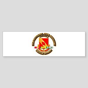 Army - 2-20th FA w VN SVC Sticker (Bumper)