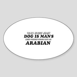 Arabian pet designs Sticker (Oval)