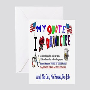 Obama cares greeting cards cafepress obamacare anti american greeting card m4hsunfo