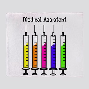 Medical Assistant 7 syringes Throw Blanket