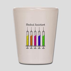 Medical Assistant 7 syringes Shot Glass
