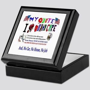 Obamacare Anti American Keepsake Box