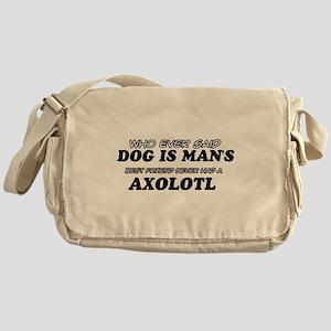 Axolotl pet designs Messenger Bag