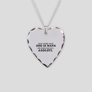 Axolotl pet designs Necklace Heart Charm