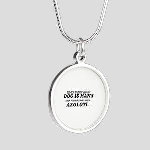 Axolotl pet designs Silver Round Necklace