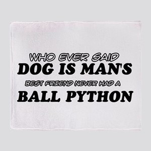 Ball Python pet designs Throw Blanket