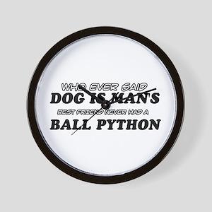 Ball Python pet designs Wall Clock