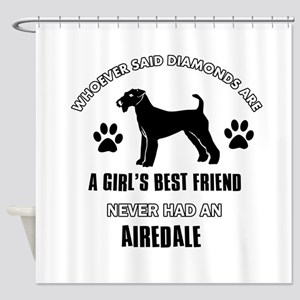 Airedale Mommy designs Shower Curtain