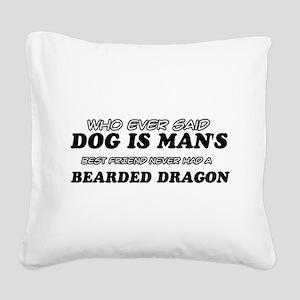 Bearded Dragon pet designs Square Canvas Pillow