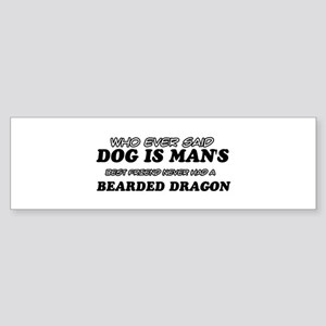 Bearded Dragon pet designs Sticker (Bumper)