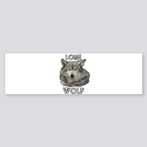 LONE WOLF Bumper Sticker