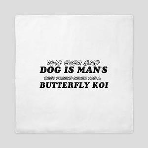 Butterfly Koi pet designs Queen Duvet