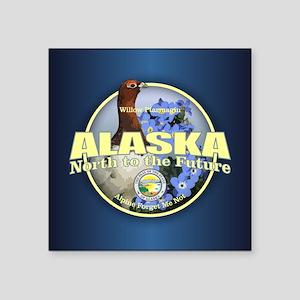 Alaska Bird & Flower Sticker
