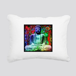 Life Tripping With Buddha Rectangular Canvas Pillo