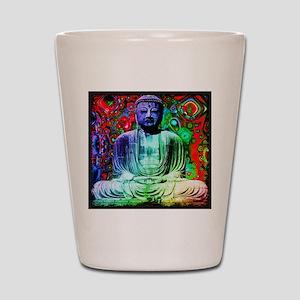Life Tripping With Buddha Shot Glass