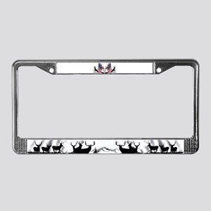 Patriotic Whitetail black powder License Plate Fra