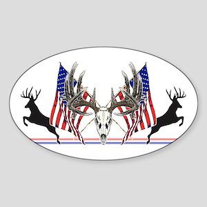 Patriotic Whitetail buck Sticker