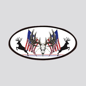 Patriotic Whitetail buck Patches