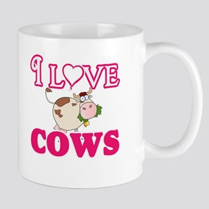 I Love Cows Mugs