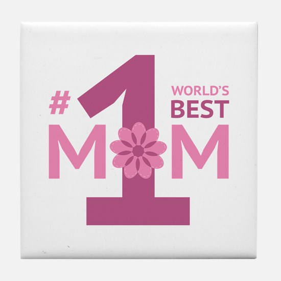 Nr 1 Mom Tile Coaster