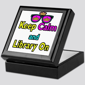 Crown Sunglasses Keep Calm And Library On Keepsake