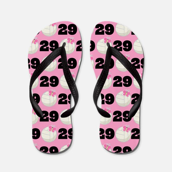 Volleyball Player Number 29 Flip Flops