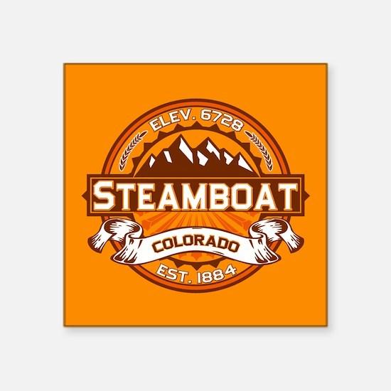 "Steamboat Tangerine Square Sticker 3"" x 3"""
