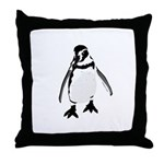 Humboldt Penguin smiling Throw Pillow
