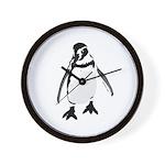 Humboldt Penguin smiling Wall Clock