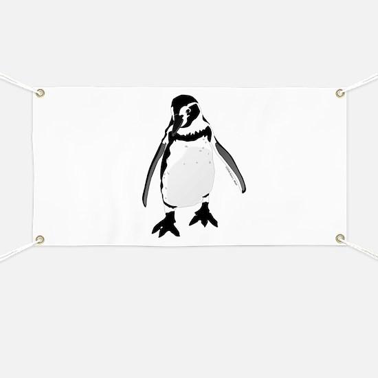 Humboldt Penguin smiling Banner