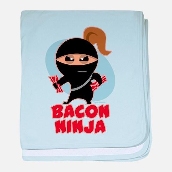Bacon Ninja baby blanket