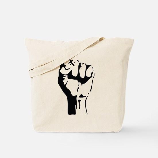 raised fist Tote Bag