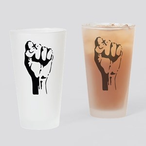 raised fist Drinking Glass