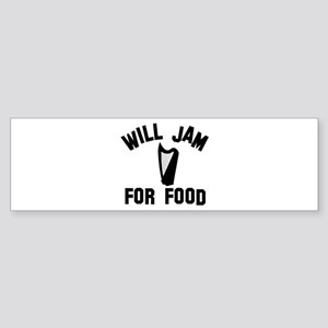 Will jam or play the Celtic Harp for food Sticker