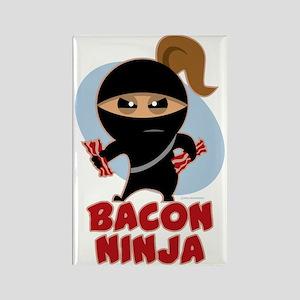 Bacon Ninja Rectangle Magnet