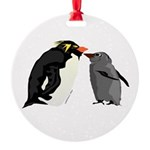 Rockhopper Penguin Mom and Baby Chick Ornament