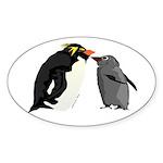 Rockhopper Penguin Mom and Baby Chick Sticker