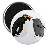 Rockhopper Penguin Mom and Baby Chick Magnet