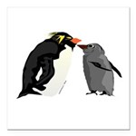 Rockhopper Penguin Mom and Baby Chick Square Car M