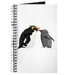 Rockhopper Penguin Mom and Baby Chick Journal