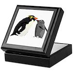 Rockhopper Penguin Mom and Baby Chick Keepsake Box